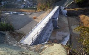 藤本建設 土木工事施工実績 調整池築造工事01